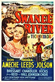 Don Ameche, Hall Johnson Choir, Al Jolson, and Andrea Leeds in Swanee River (1939)