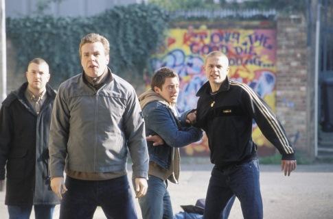 Elijah Wood and Charlie Hunnam in Hooligans (2005)