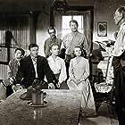 John Drew Barrymore, John Archer, Lois Butler, Clem Fuller, Kristine Miller, Basil Ruysdael, and Chill Wills in High Lonesome (1950)
