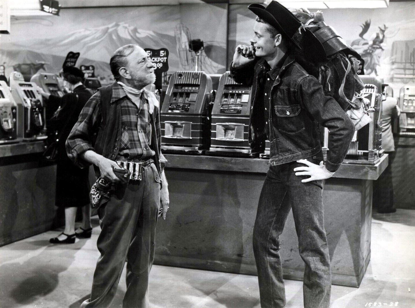 Carleton Carpenter and Emmett Lynn in Sky Full of Moon (1952)