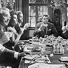 Klaus Kinski, Hans Clarin, Corny Collins, Heinz Drache, Richard Häussler, Hans Nielsen, and Gisela Uhlen in Das indische Tuch (1963)