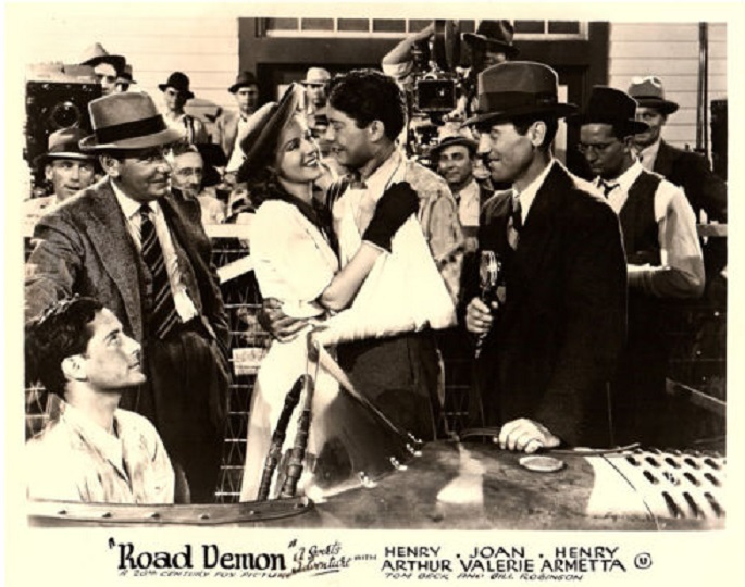 Henry Arthur, Thomas Beck, and Joan Valerie in Road Demon (1938)