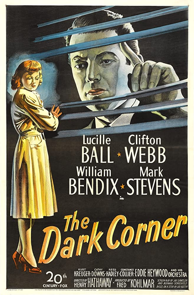 Lucille Ball and Mark Stevens in The Dark Corner (1946)