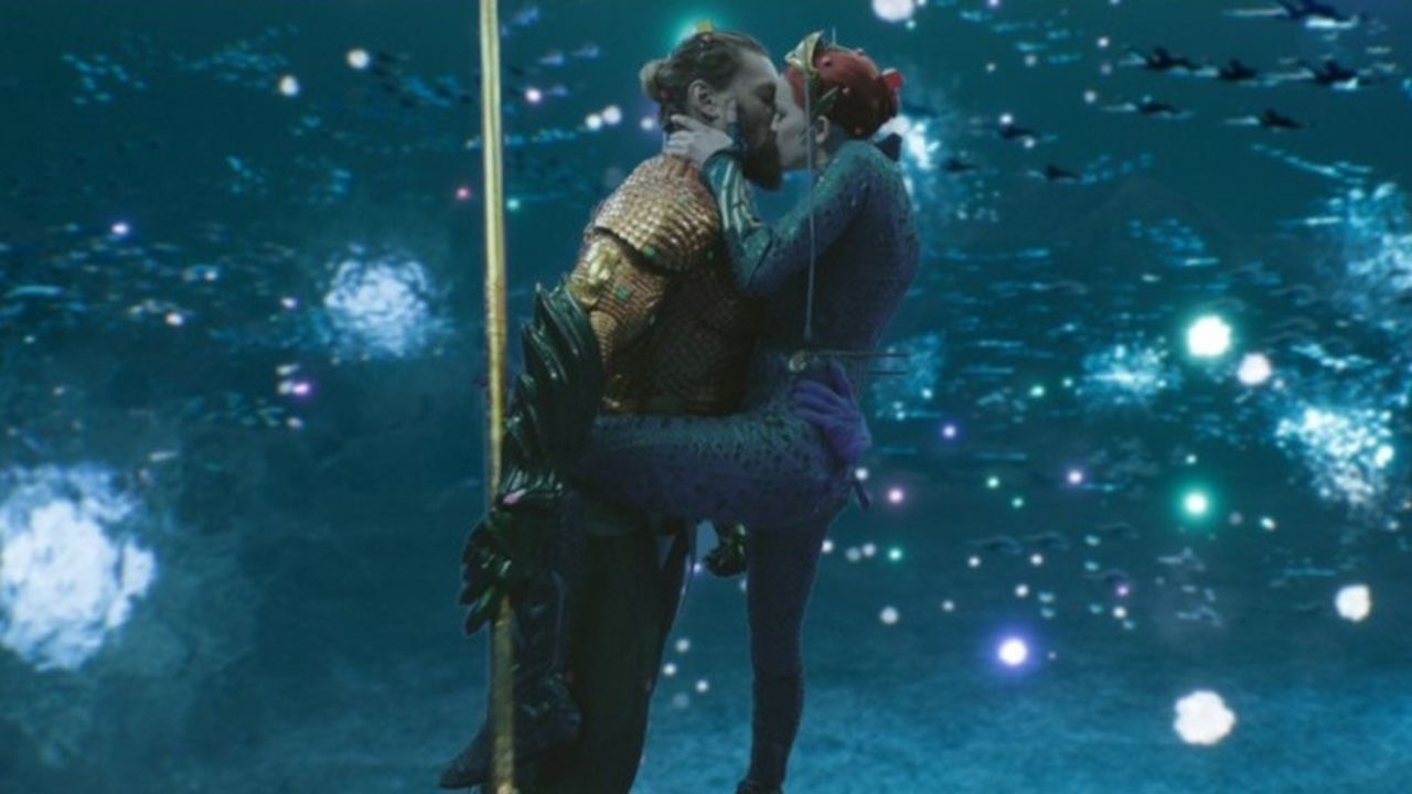 Jason Momoa and Amber Heard in Aquaman (2018)