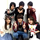 Daisuke Namikawa, Megumi Han, Ayumu Murase, Natsuki Hanae, Kaito Ishikawa, and Yû Serizawa at an event for Sôsei no onmyôji (2016)