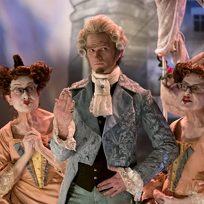 Neil Patrick Harris, Jacqueline Robbins, and Joyce Robbins in A Series of Unfortunate Events (2017)