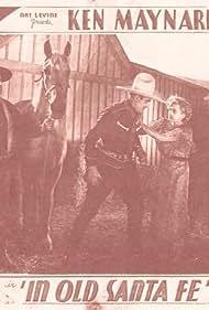 George 'Gabby' Hayes, Evalyn Knapp, Ken Maynard, Wheeler Oakman, Kenneth Thomson, and Tarzan in In Old Santa Fe (1934)