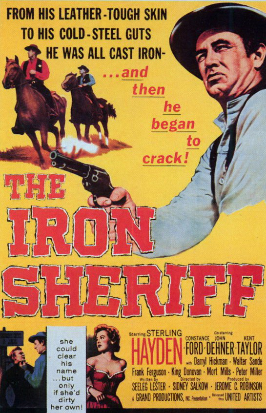 Sterling Hayden and Constance Ford in The Iron Sheriff (1957)