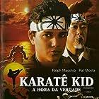 Ralph Macchio, Pat Morita, and William Zabka in The Karate Kid (1984)