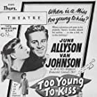 June Allyson and Van Johnson in Too Young to Kiss (1951)