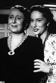 Sona Cervená and Meda Valentová in Poslední mohykán (1947)