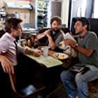 Robert Downey Jr., Zach Galifianakis, and Todd Phillips in Due Date (2010)