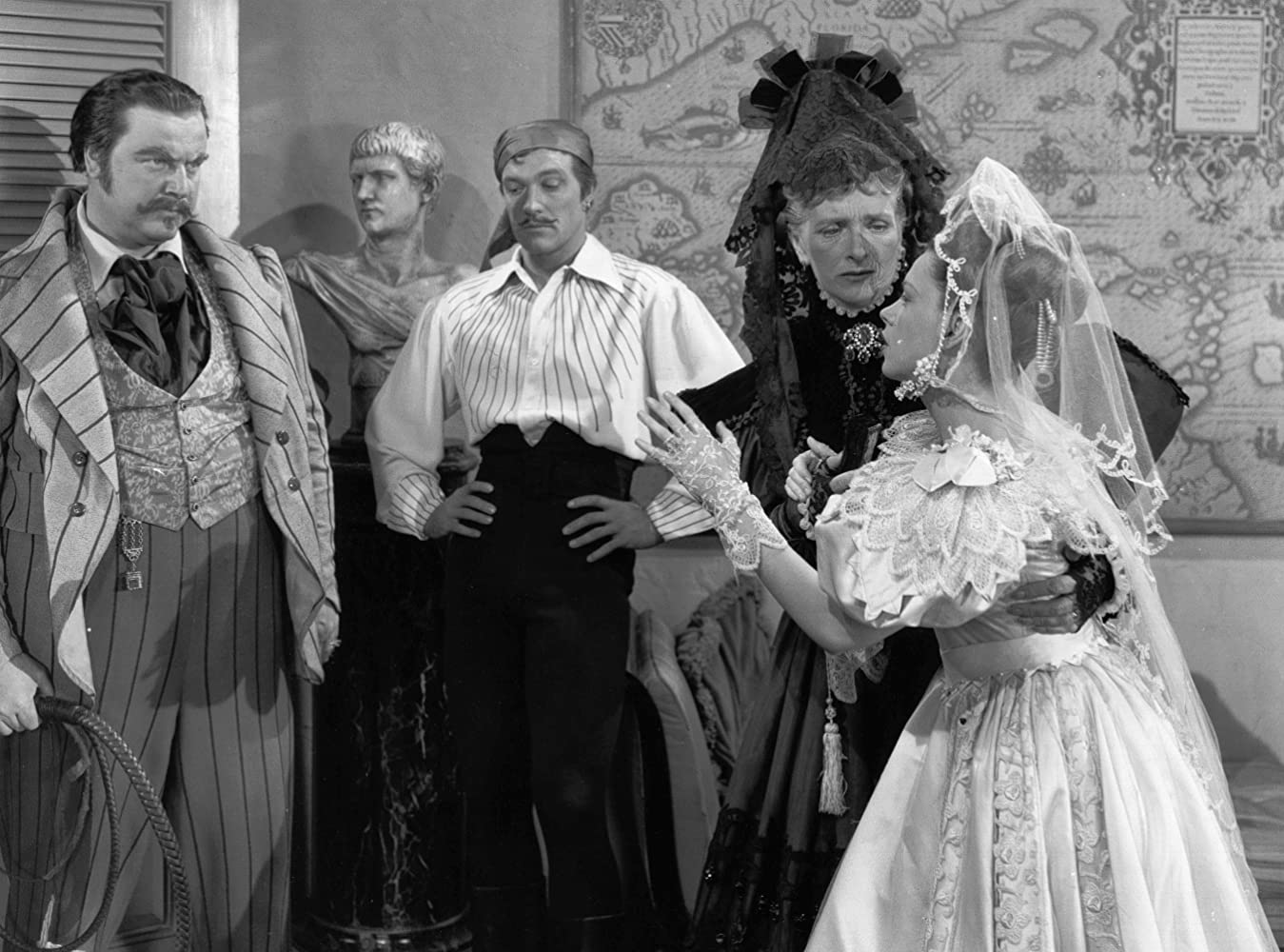 Judy Garland, Gene Kelly, Gladys Cooper, and Walter Slezak in The Pirate (1948)