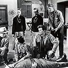 Spencer Tracy, Richard Widmark, Earl Holliman, Katy Jurado, and Hugh O'Brian in Broken Lance (1954)