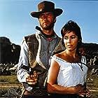 Clint Eastwood and Marianne Koch in Per un pugno di dollari (1964)