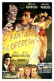 Alfredo Barbieri and Amelia Vargas in El fantasma de la opereta (1955)