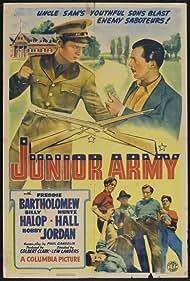 Freddie Bartholomew, Rudolph Anders, Huntz Hall, Billy Halop, and Bobby Jordan in Junior Army (1942)