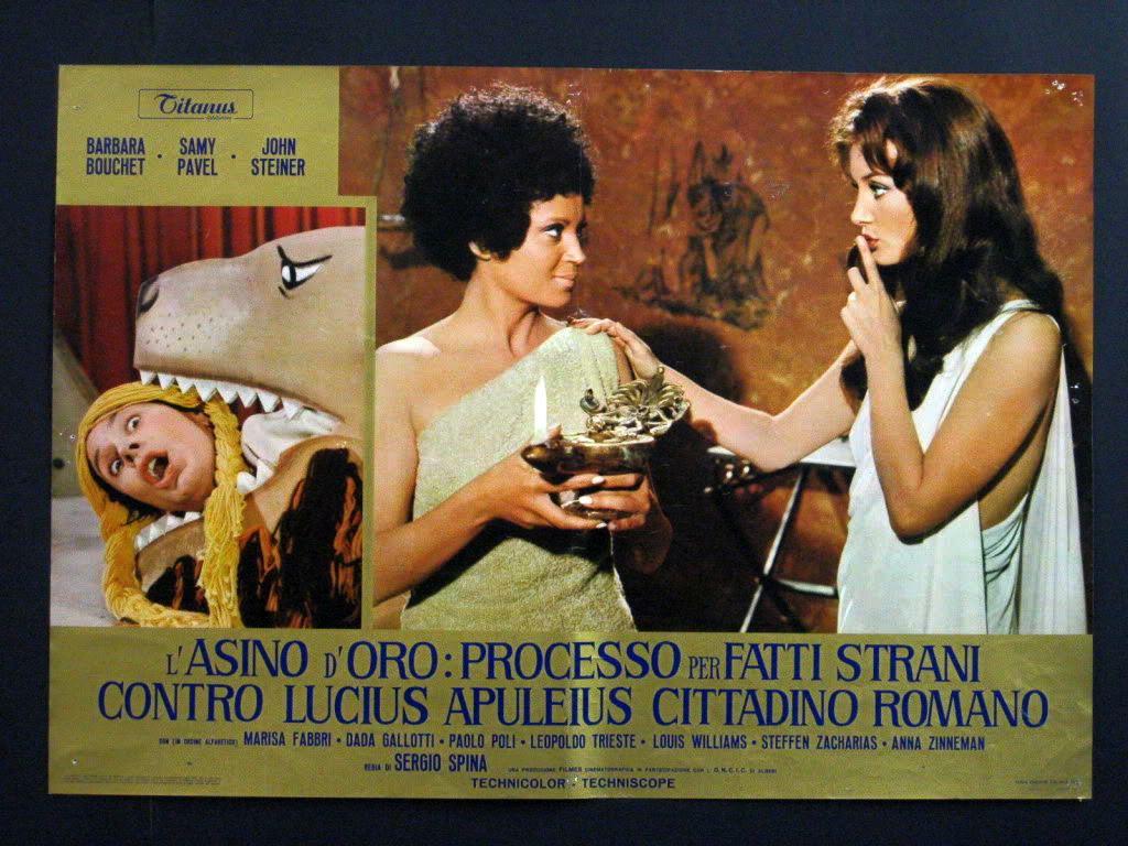 Barbara Bouchet and John Steiner in L'asino d'oro: processo per fatti strani contro Lucius Apuleius cittadino romano (1970)