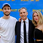 Greg Koorhan with David Corenswet and Sophie Koorhan at the Project Pay Day premiere