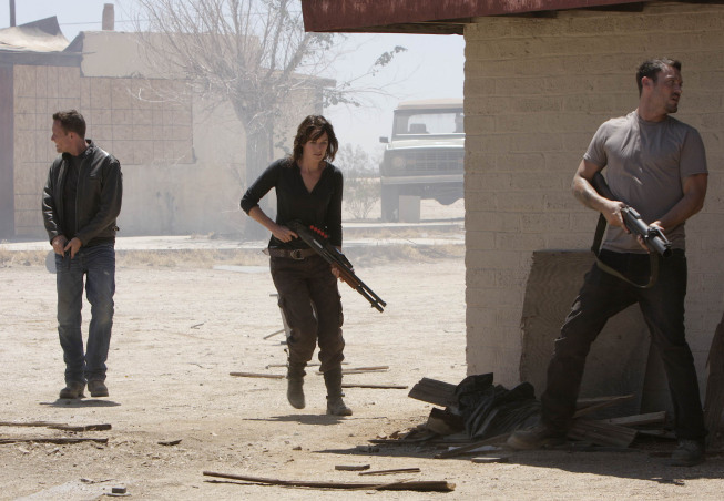Brian Austin Green, Lena Headey, and Dean Winters in Terminator: The Sarah Connor Chronicles (2008)
