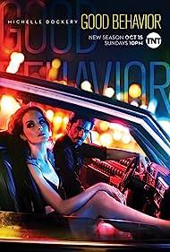 Juan Diego Botto and Michelle Dockery in Good Behavior (2016)