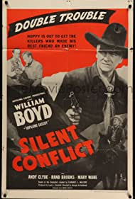 William Boyd, Rand Brooks, Andy Clyde, and Earle Hodgins in Silent Conflict (1948)