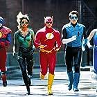 Michelle Hurd, Kenny Johnston, John Kassir, Kimberly Oja, and Matthew Settle in Justice League of America (1997)