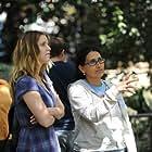 Kelli Garner and Rachel Goldberg on the set of Neighbors