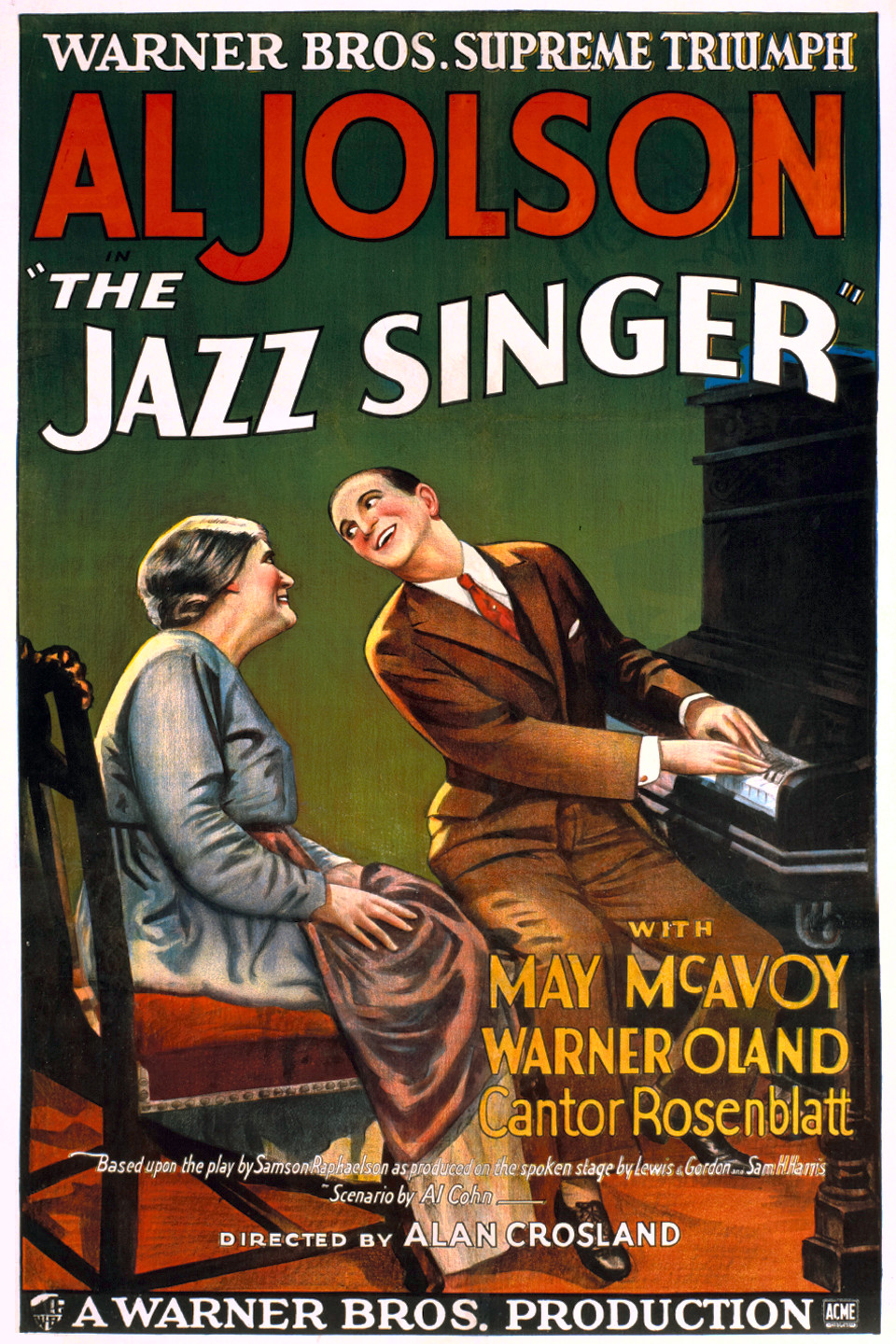 le chanteur de jazz 1927