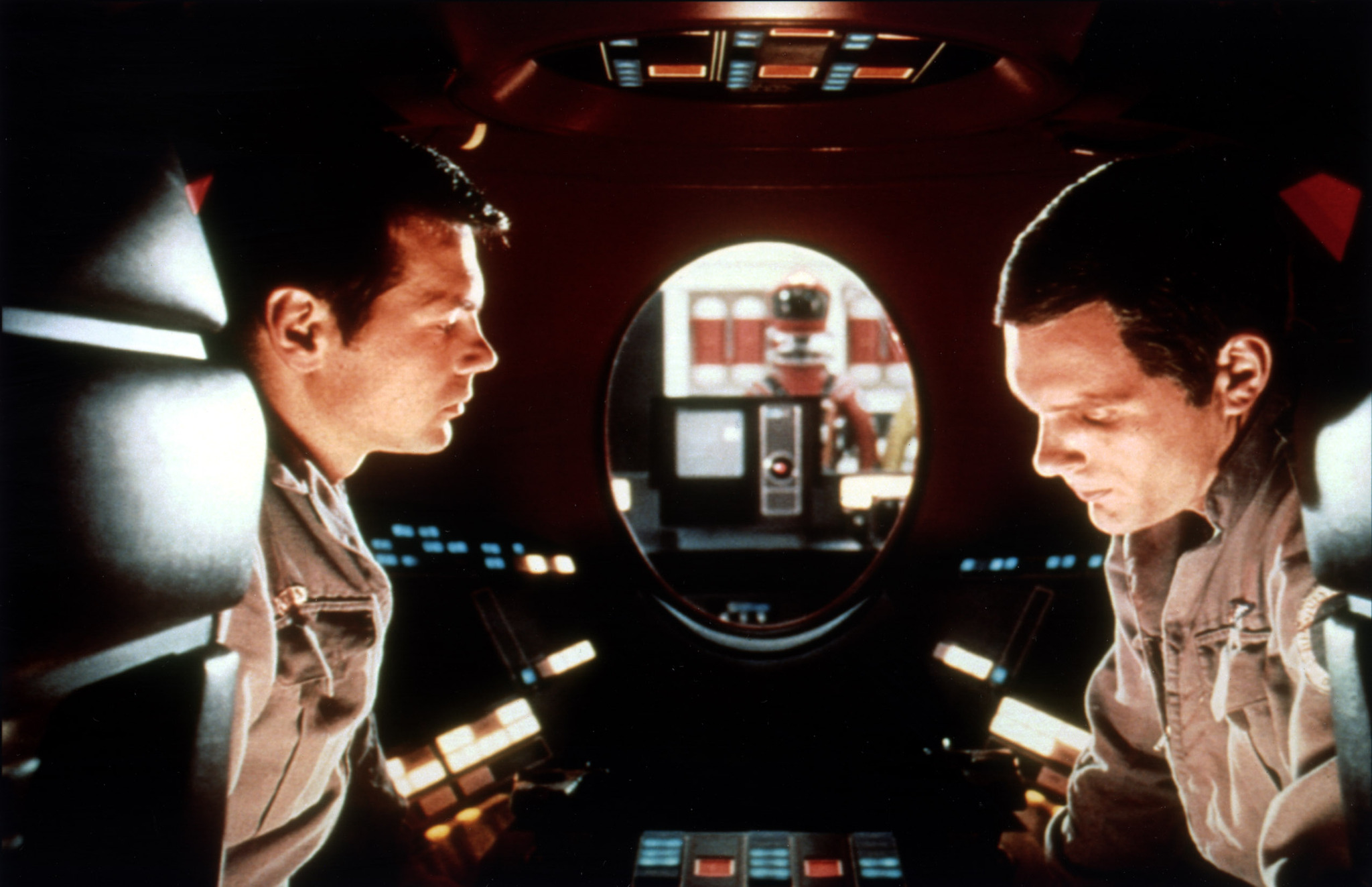 Keir Dullea and Gary Lockwood in 2001: A Space Odyssey (1968)