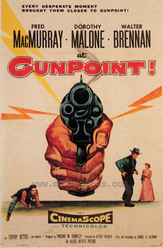 Fred MacMurray and Dorothy Malone in At Gunpoint (1955)