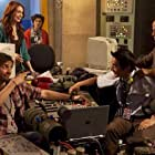 Gerry Bednob, Andrew Bowen, Felicia Day, Justin Chon, and Kevin Wu in Rock Jocks (2012)