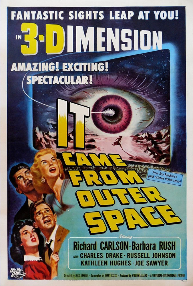 Richard Carlson, Charles Drake, Kathleen Hughes, and Barbara Rush in It Came from Outer Space (1953)