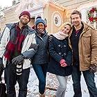 Nichole Galicia, Nicky Whelan, Josh Kelly, and Michael Cognata in Romance at Reindeer Lodge (2017)