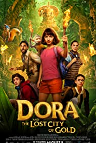Isabela Merced, Madeleine Madden, and Jeff Wahlberg in Dora and the Lost City of Gold (2019)