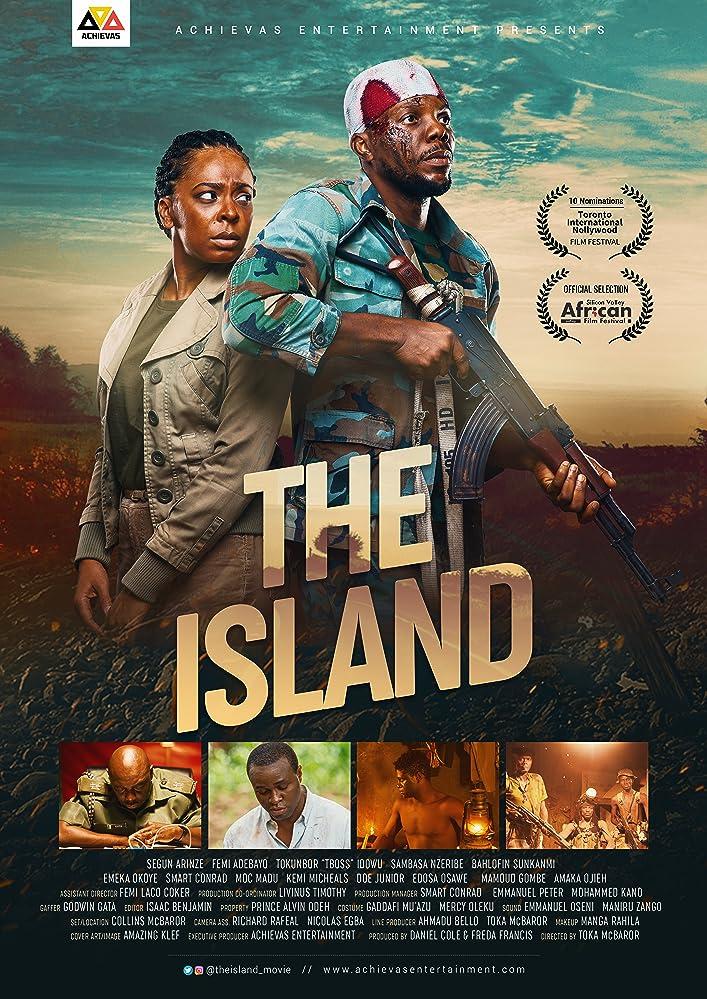 Segun Arinze, Femi Adebayo, Sambasa Nzeribe, and Tokunbo Idowu in The Island (2018)