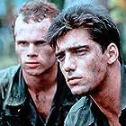 Paul McCrane and Ken Wahl in Purple Hearts (1984)