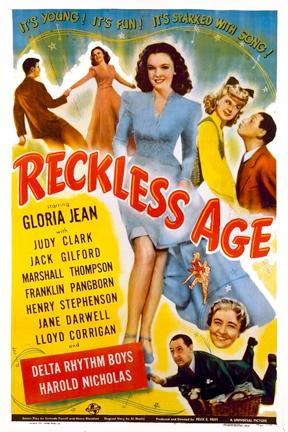 Jane Darwell, Judy Clark, Gloria Jean, and Franklin Pangborn in Reckless Age (1944)
