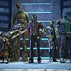 Nolan North, Emily O'Brien, Scott Porter, Adam Harrington, and Brandon Paul Eells in Guardians of the Galaxy: The Telltale Series (2017)
