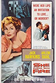 Arlene Dahl, Sidney Gilliat, Jack Hawkins, Ian Hunter, Bernard Miles, and Dennis Price in Fortune Is a Woman (1957)