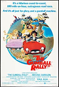 Raul Julia, Norman Burton, Susan Flannery, Harvey Jason, Steven Keats, Joanne Nail, Tricia O'Neil, Nicholas Pryor, Lázaro Pérez, Michael Sarrazin, Walter R. Smith, Wally Taylor, and Linda Vaughn in The Gumball Rally (1976)