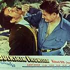Richard Dix and Victor Jory in Buckskin Frontier (1943)