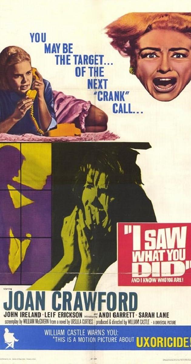 I Saw What You Did 1965 Imdb