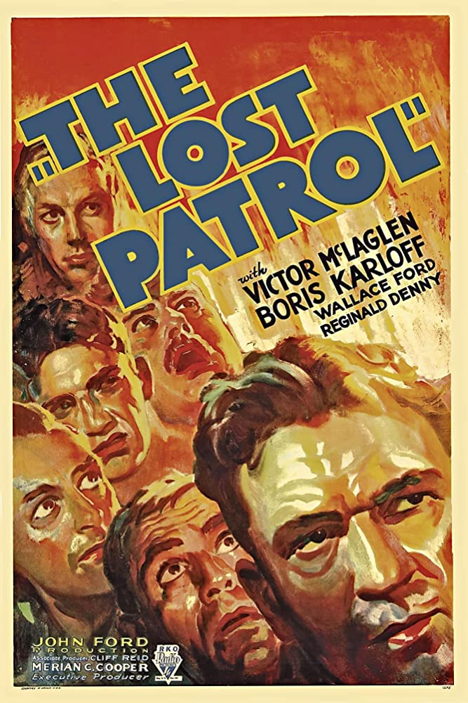 Boris Karloff, Reginald Denny, Wallace Ford, J.M. Kerrigan, and Victor McLaglen in The Lost Patrol (1934)