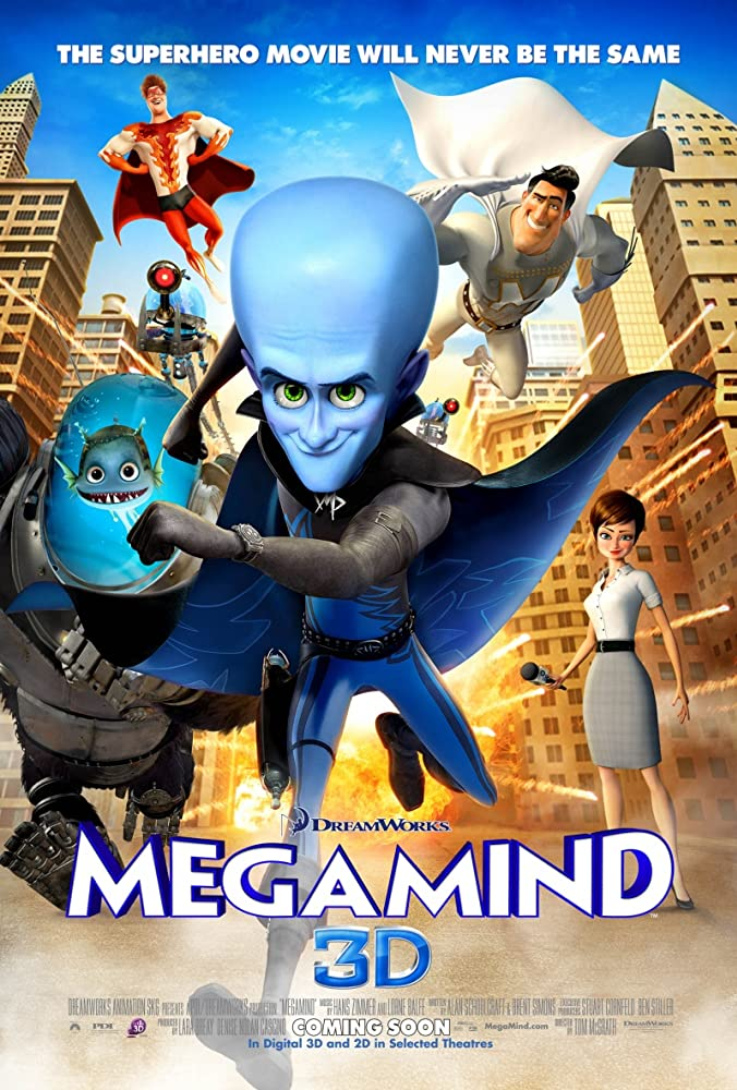 Megamind (2010) 720p + 1080p BluRay x264 ESubs Dual Audio [Hindi DD5.1 + English DTS 5.1]