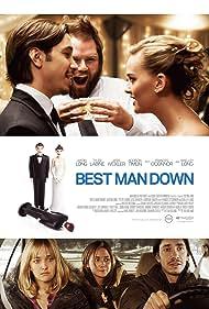Tyler Labine, Justin Long, Jess Weixler, and Addison Timlin in Best Man Down (2012)