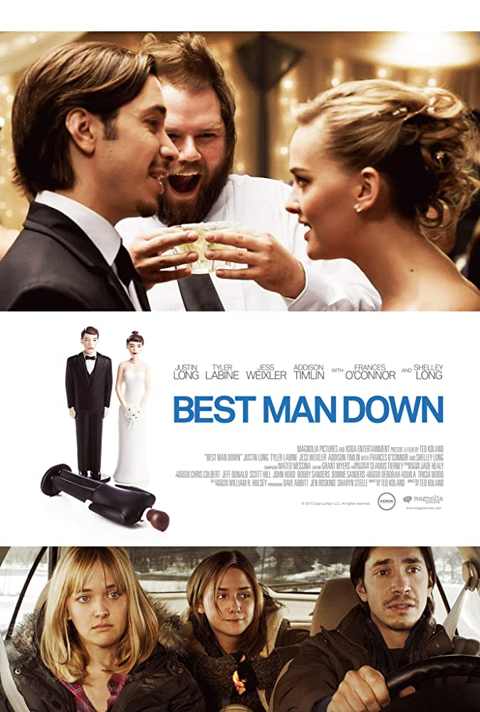 Tyler Labine, Justin Long, Jess Weixler, and Addison Timlin in Best Man Down (2012)