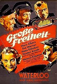Hans Albers, Gustav Knuth, Hilde Hildebrand, Helmut Käutner, Günther Lüders, Hans Söhnker, and Ilse Werner in Grosse Freiheit Nr. 7 (1944)