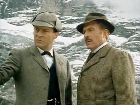 Jeremy Brett and David Burke in The Adventures of Sherlock Holmes 1984