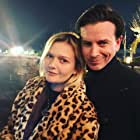 John Tague with Sophie Kennedy Clark at the wrap party of The First